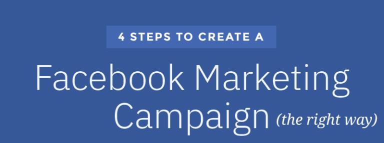 4 étapes pour créer une campagne de marketing Facebook [Infographic]