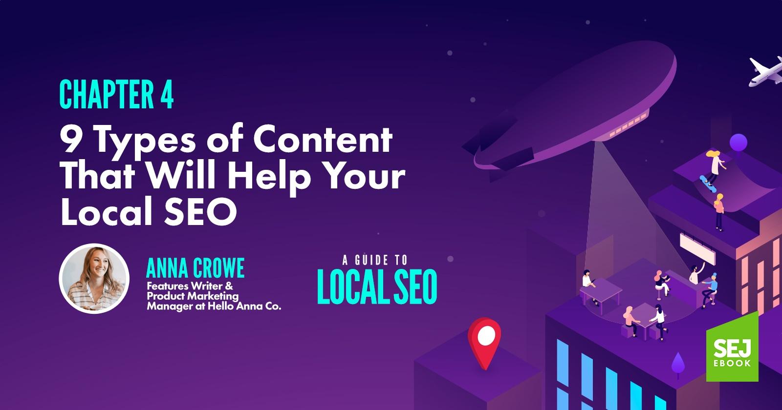 9 types de contenu qui aideront votre référencement local