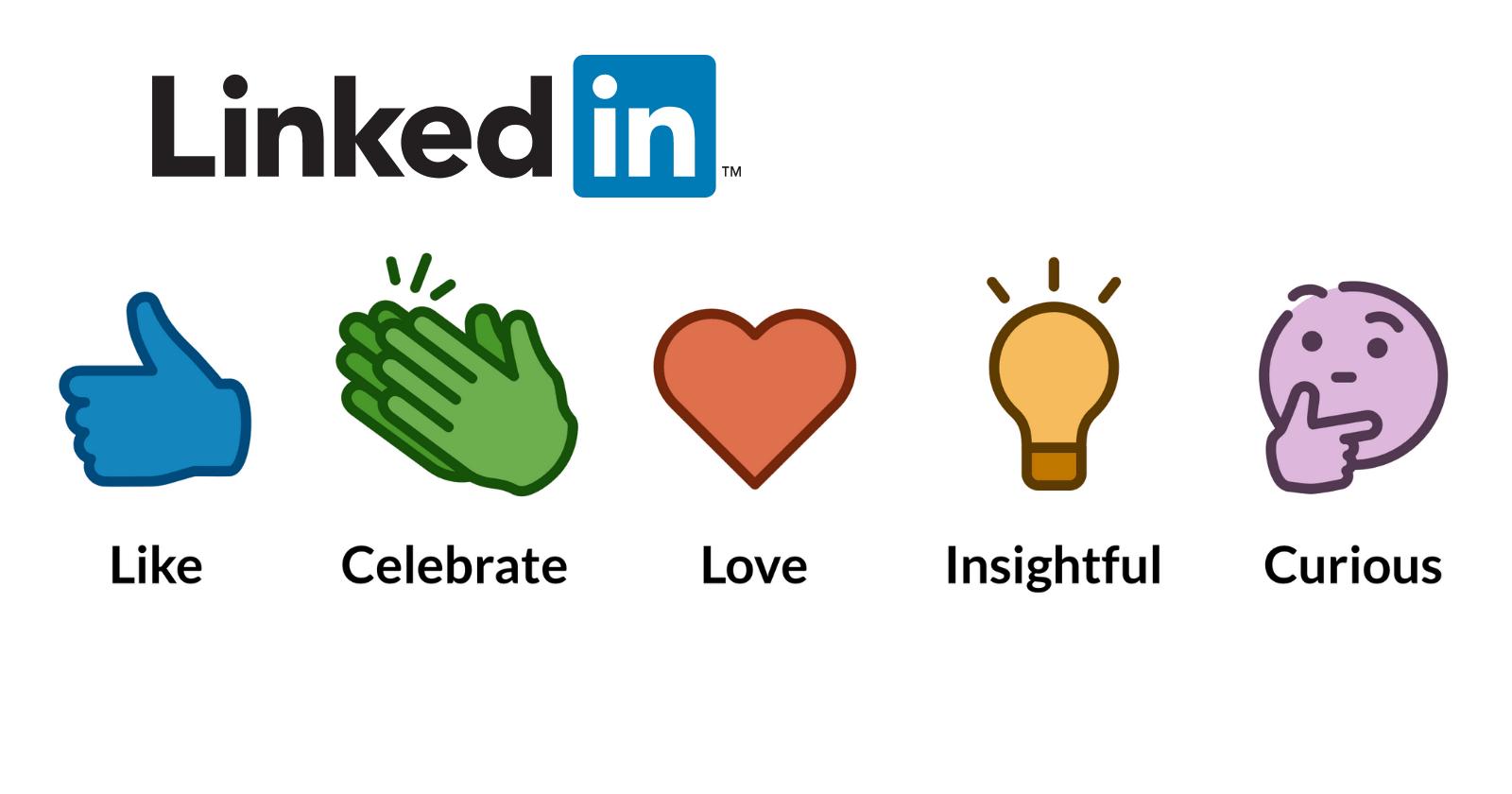 LinkedIn vise à renforcer l'engagement avec une gamme de réactions aux messages