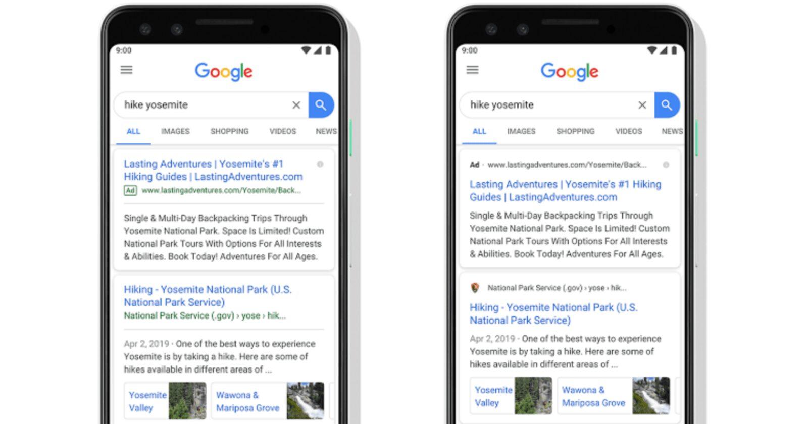 Google ajoute des favicons à tous les résultats de recherche