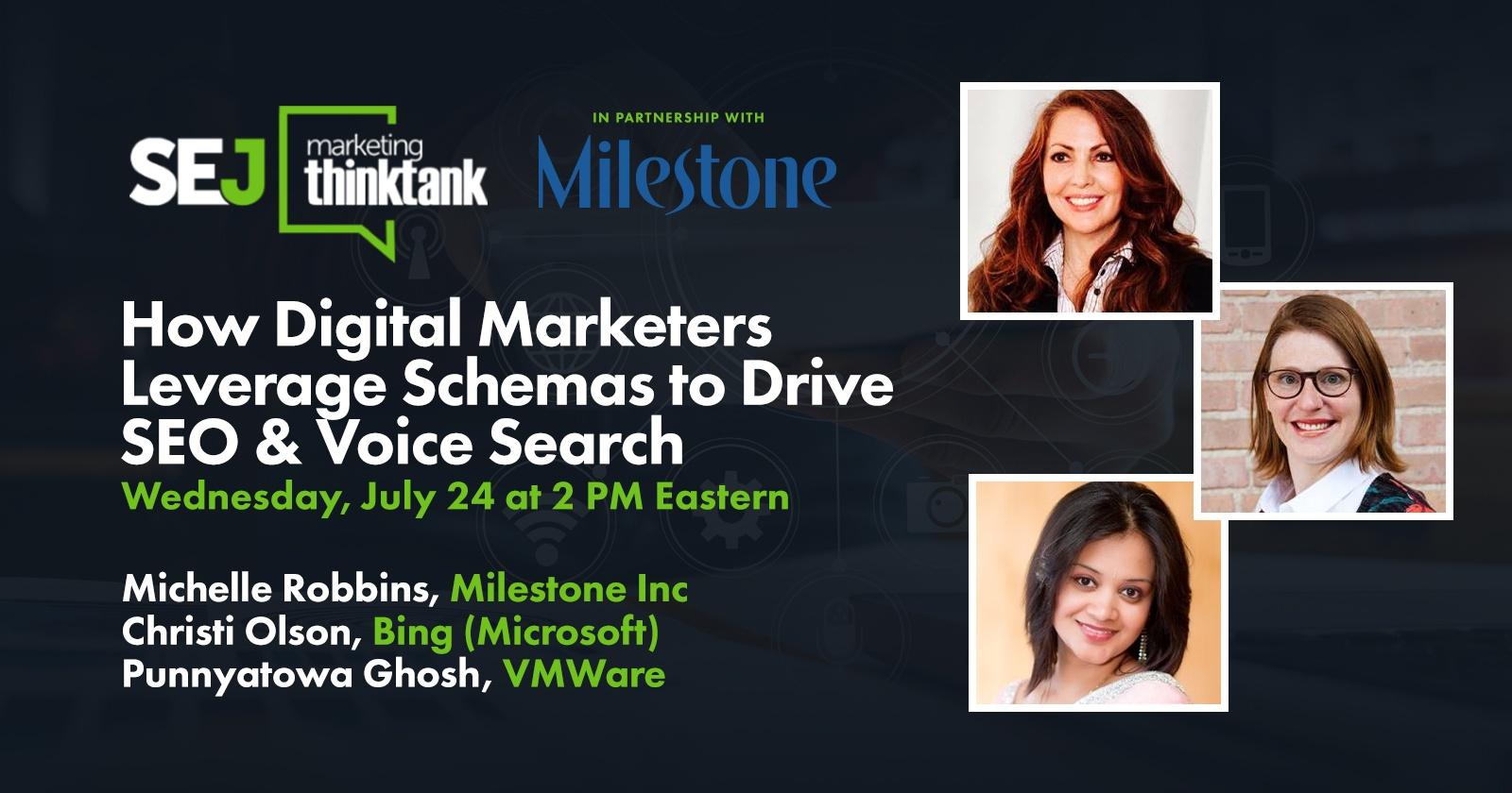 Comment les spécialistes du marketing numérique exploitent les schémas pour stimuler le référencement et la recherche vocale [WEBINAR]