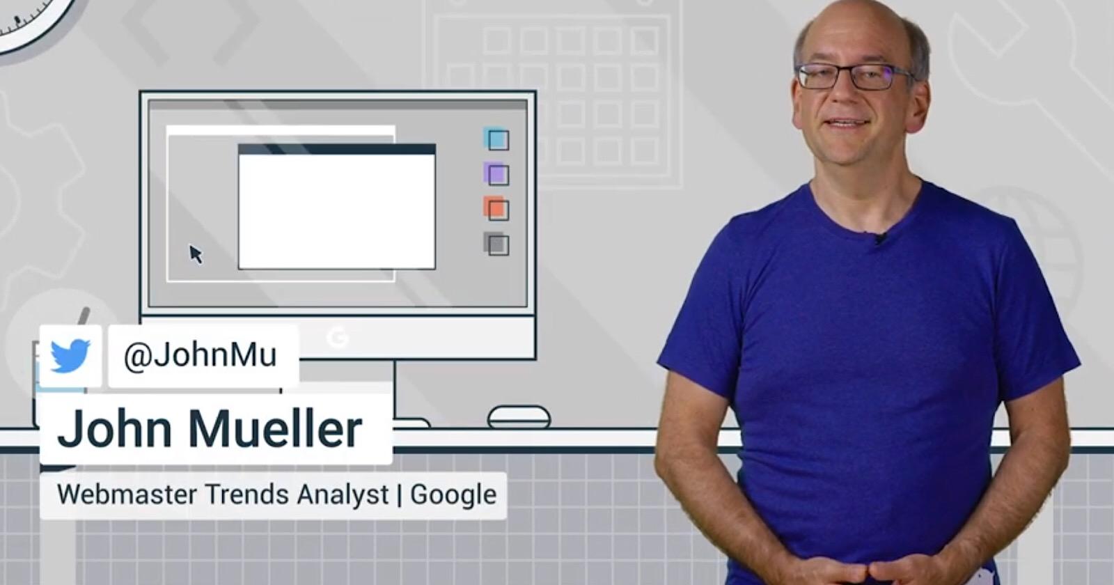 John Mueller de Google sur Où insérer des données structurées JSON-LD