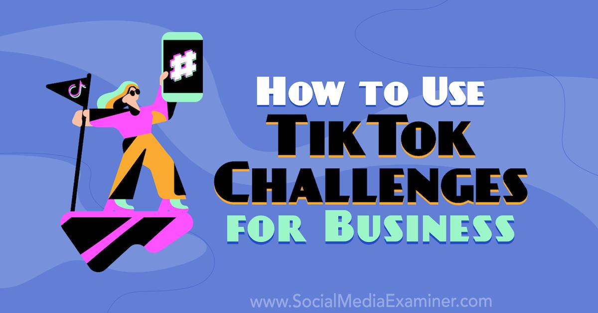 Comment utiliser les défis TikTok pour les entreprises: examinateur de médias sociaux
