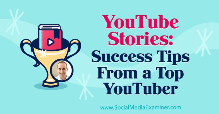 Histoires YouTube: conseils de réussite d'un grand YouTuber: examinateur de médias sociaux