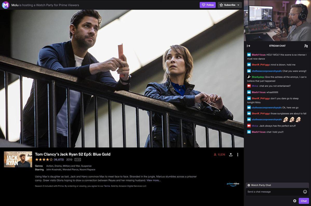 Twitch déploie la version bêta de «Watch Parties» afin que les créateurs et les téléspectateurs puissent Amazon Prime ensemble
