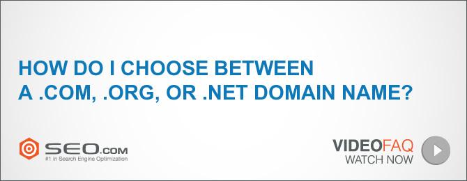 Comment choisir entre un nom de domaine .com, .org ou .net?