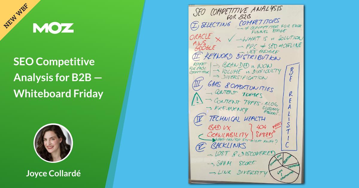 Analyse concurrentielle SEO pour B2B – Tableau blanc vendredi