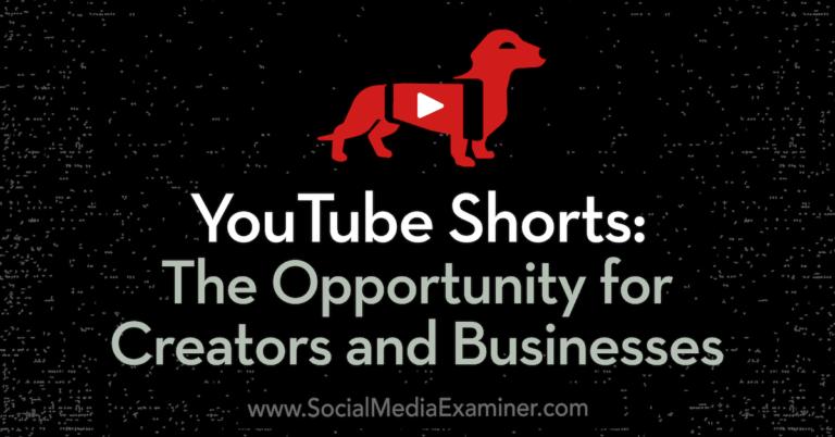 YouTube Shorts: l'opportunité pour les créateurs et les entreprises: examinateur des médias sociaux