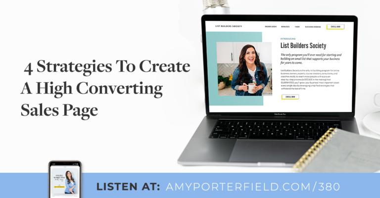 #380:4stratégies pour créer une page de vente à fort taux de conversion